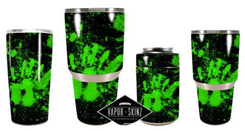GREEN BLACK SPLATTER - Vapor Skinz