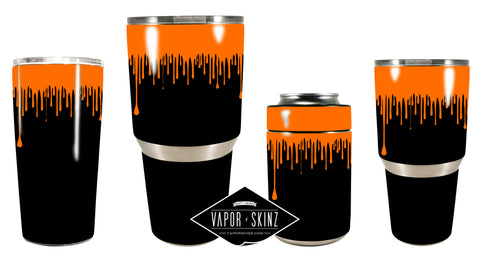 BLACK ORANGE DRIP - Vapor Skinz