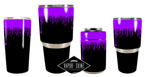 BLACK PURPLE DRIP - Vapor Skinz