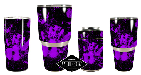 BLACK PURPLE SPLATTER - Vapor Skinz