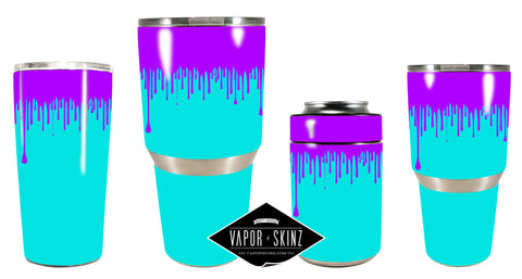 BLUE PURPLE DRIP - Vapor Skinz