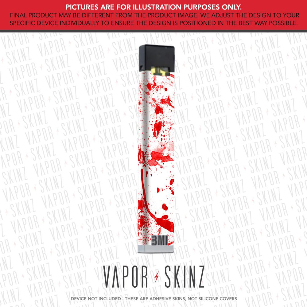 White Red Splatter BMI NANO Skin