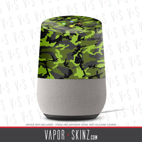Black Green Camo Google Home Skin - Vapor Skinz