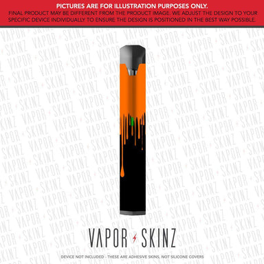 Black Orange Drip BO VAPE Skin