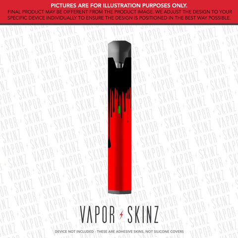 Red Black Drip BO VAPE Skin