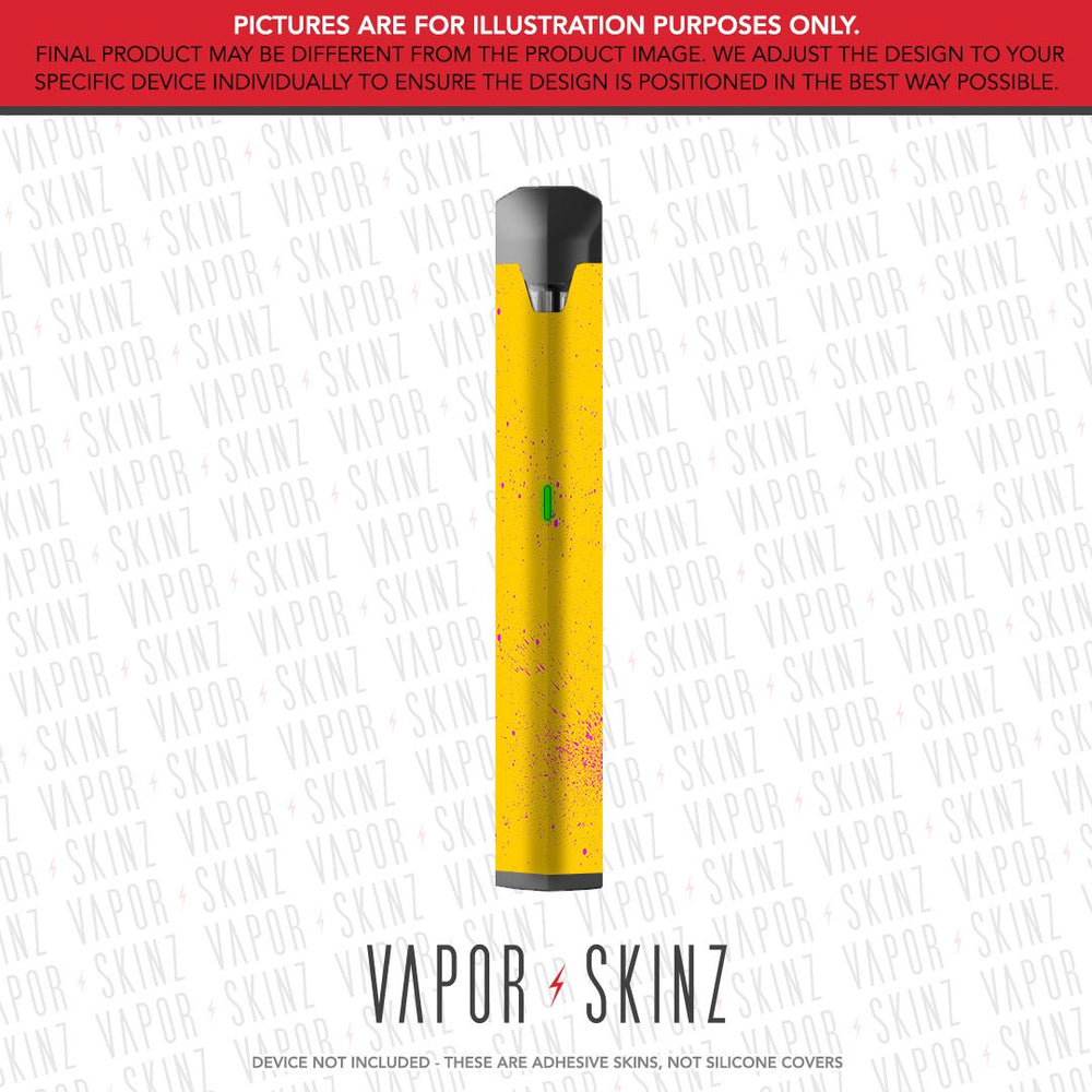 Yellow Pink Speckles BO VAPE Skin