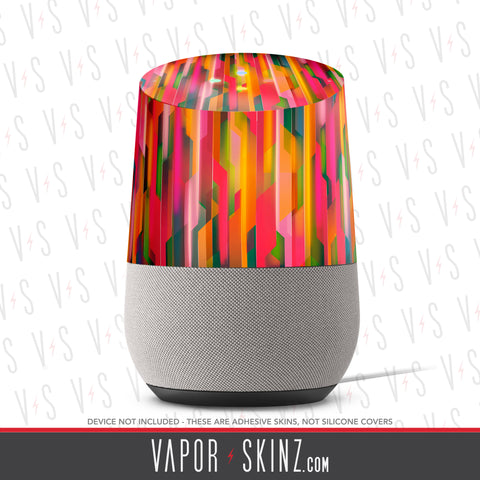 Geometric Orange Google Home Skin - Vapor Skinz