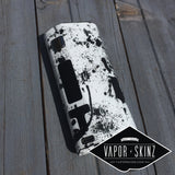White Black Splatter - Vapor Skinz