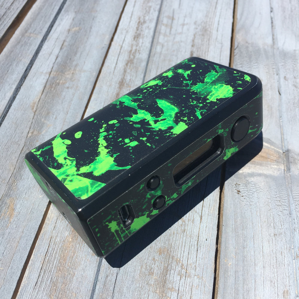 Black Green Splatter - Vapor Skinz