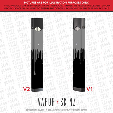 Black Gray Drip JUUL Skin