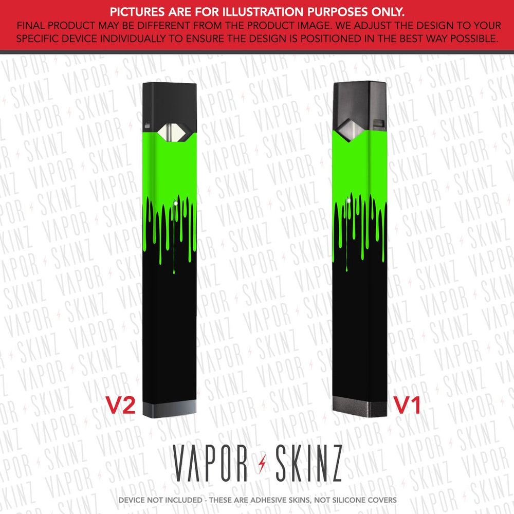 Black Green Drip JUUL Skin