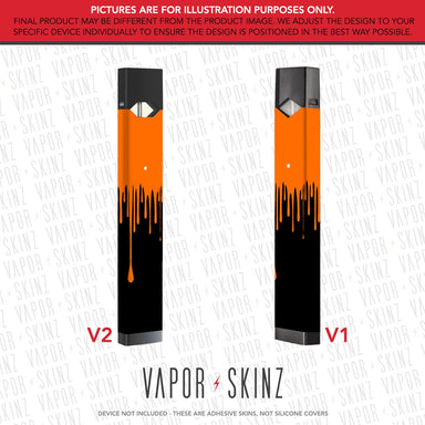 Black Orange Drip JUUL Skin