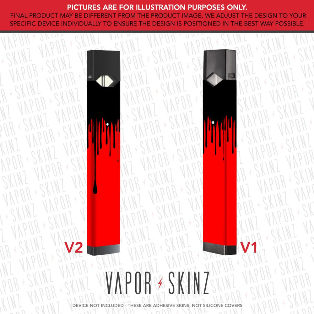 Red Black Drip JUUL Skin