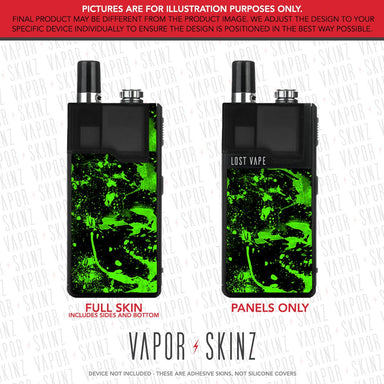 Black Green Splatter ORION DNA GO Skin