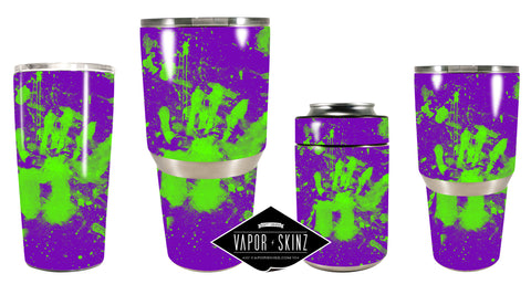 PURPLE GREEN SPLATTER - Vapor Skinz
