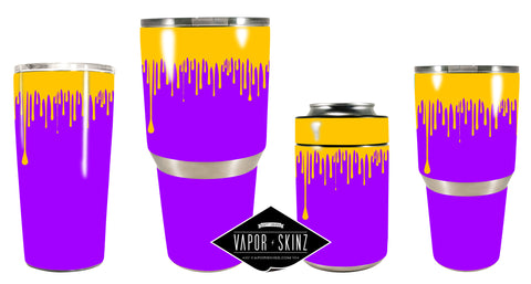 PURPLE YELLOW DRIP - Vapor Skinz