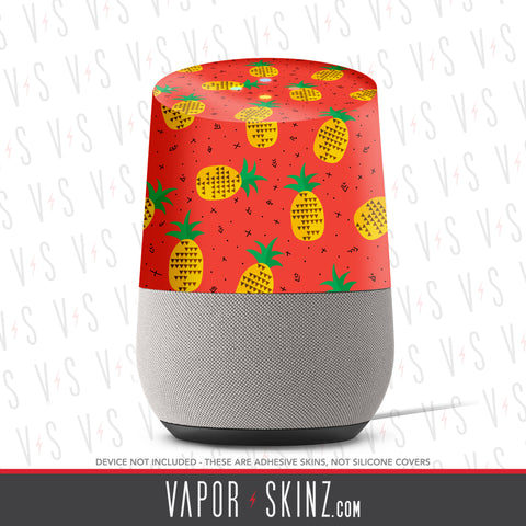 Pineapples Google Home Skin