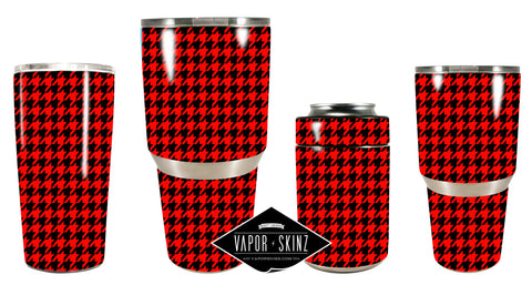 RED HOUNDSTOOTH - Vapor Skinz