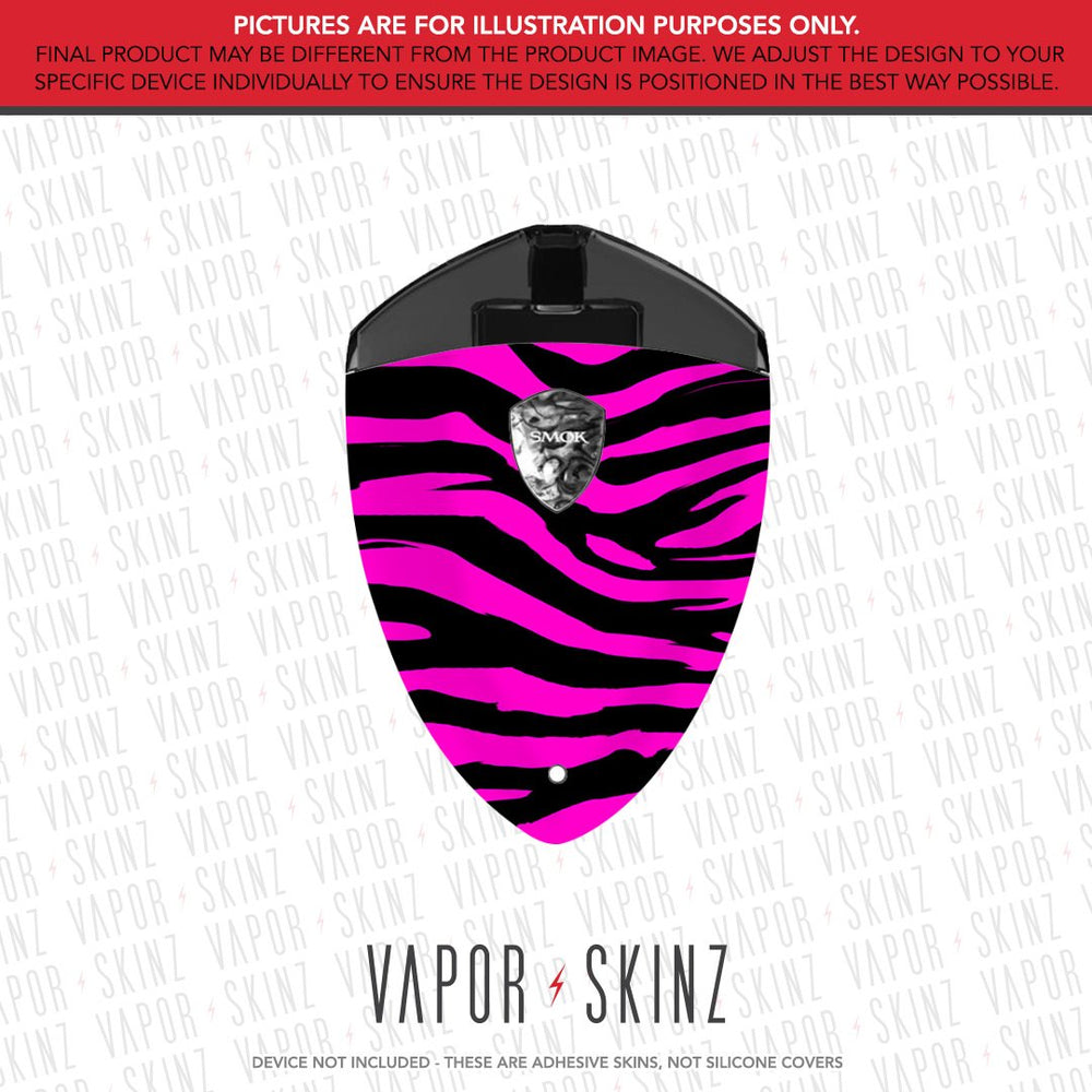 Hot Pink Zebra ROLO BADGE Skin