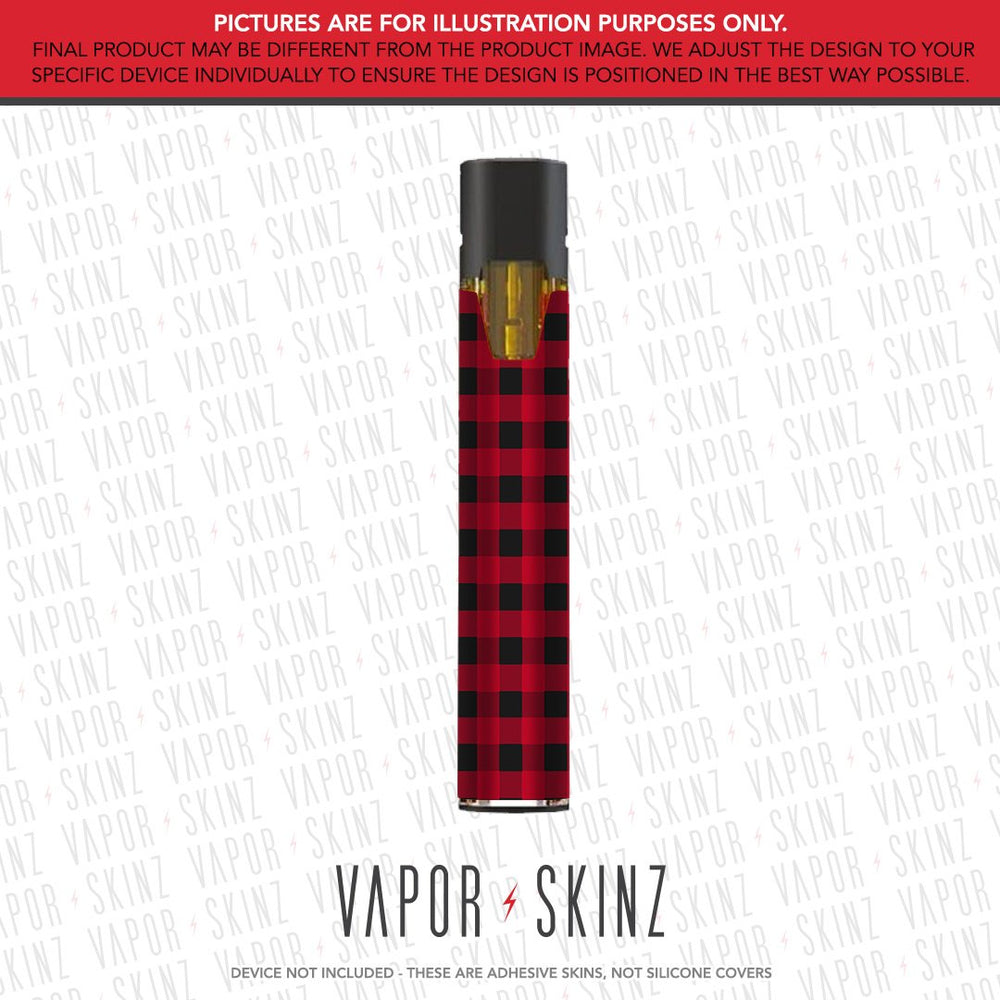 Red Plaid STIIIZY POD Skin