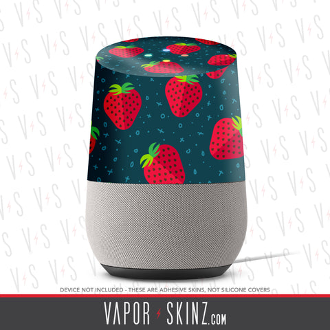 Strawberries Google Home Skin