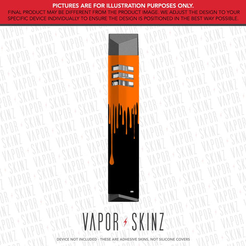 Black Orange Drip VAPECCINO MATE 1 Skin