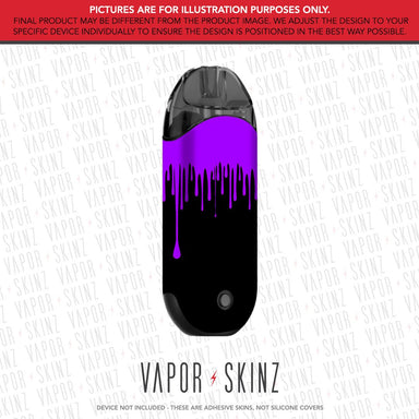 Black Purple Drip ZERO Skin
