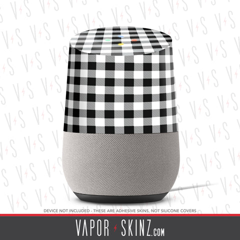 White Plaid Google Home Skin