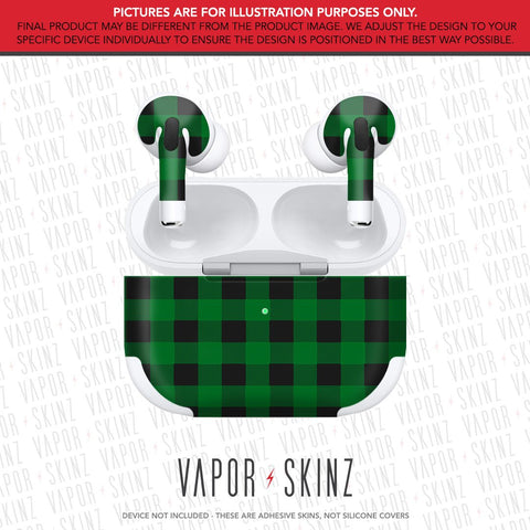 Green Plaid APPLE AIRPODS PRO Skin