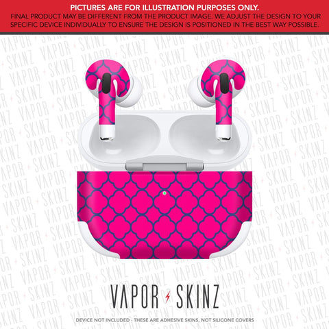 Pink Blue Quaterfoil APPLE AIRPODS PRO Skin
