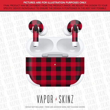Red Plaid APPLE AIRPODS PRO Skin