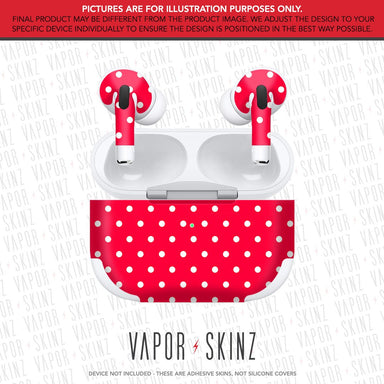 Red Polka Dots APPLE AIRPODS PRO Skin