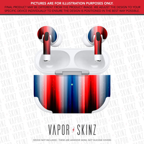 Red White & Blue APPLE AIRPODS PRO Skin