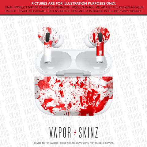 White Red Splatter APPLE AIRPODS PRO Skin