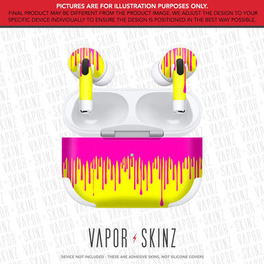 Yellow Pink Drip APPLE AIRPODS PRO Skin