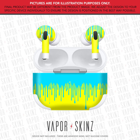 Yellow Blue Drip APPLE AIRPODS PRO Skin