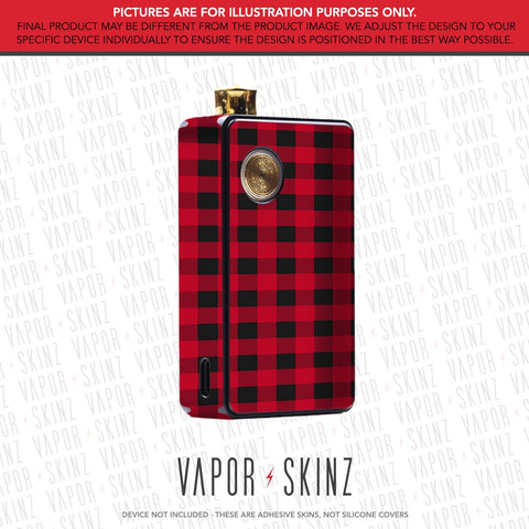 Red Plaid DOT AIO Skin