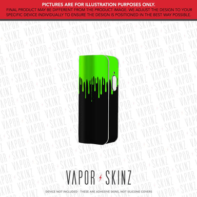 Black Green Drip SNAP MINI Skin