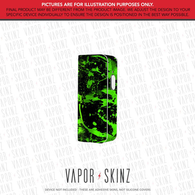 Black Green Splatter SNAP MINI Skin