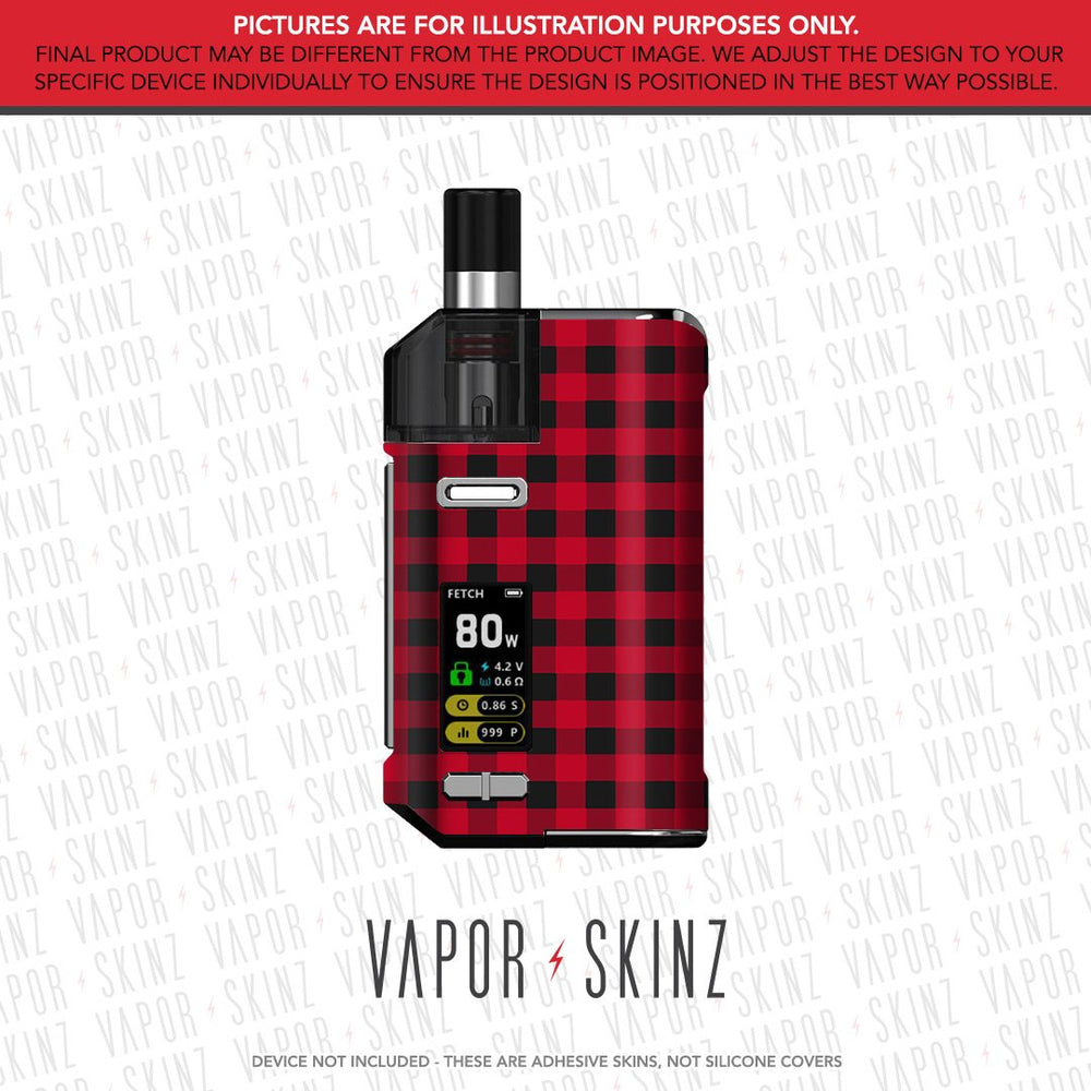 Red Plaid FETCH PRO Skin