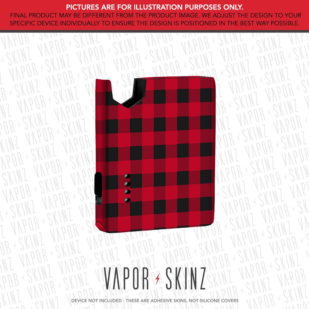 Red Plaid SQRL POD Skin