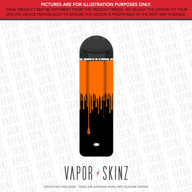 Black Orange Drip SUPERGOOD POD Skin