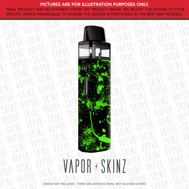 Black Green Splatter VINCI AIR Skin