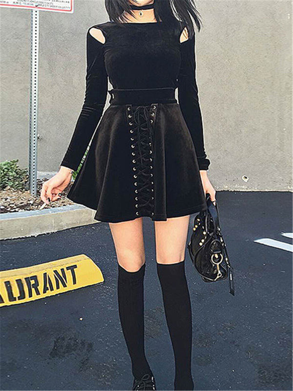 Gothic High Waist Skirt Set