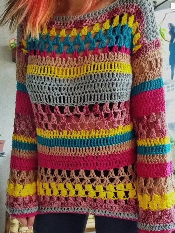 Multicolor Vintage Striped Sweater