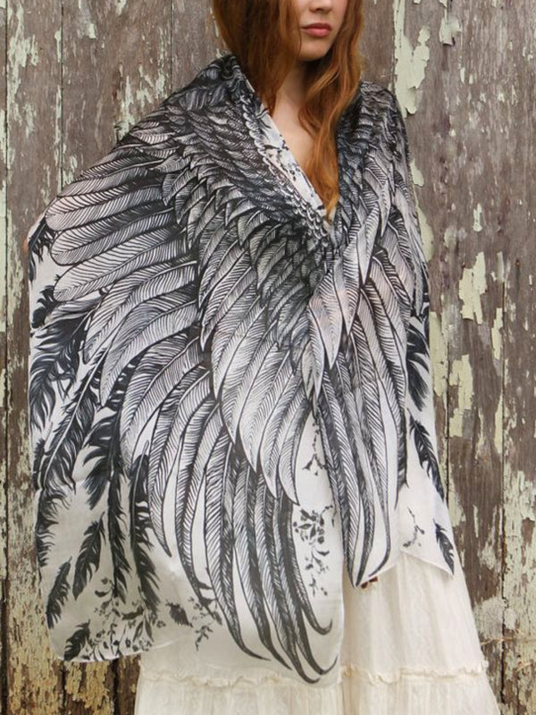 Beautiful Feather Scarf