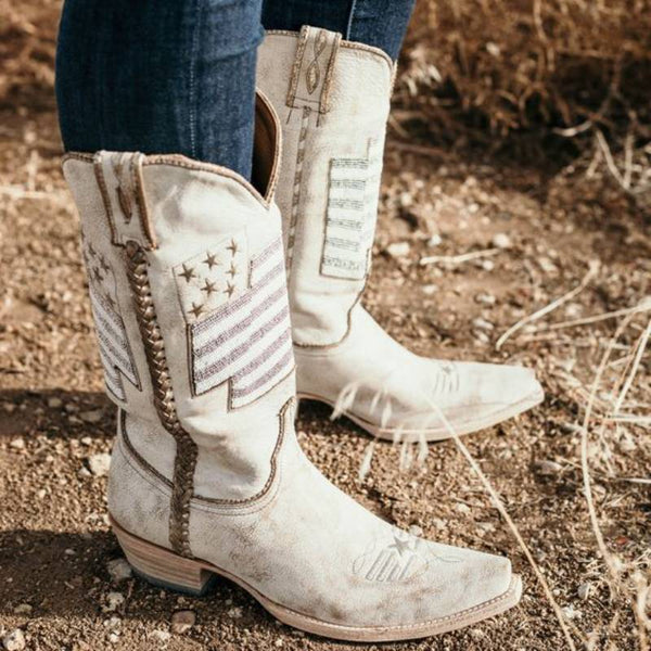 Women Vintage Cowgirl  Boot Shoes