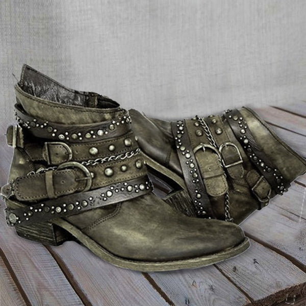 Pu Rivet Summer Boots