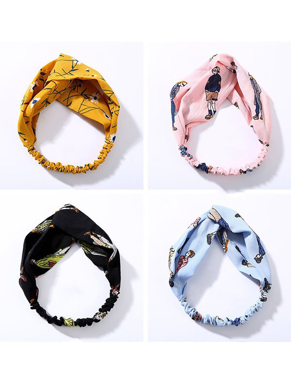 Fashion Plaid Knot Headband Turban Elastic Head Wrap Hairband