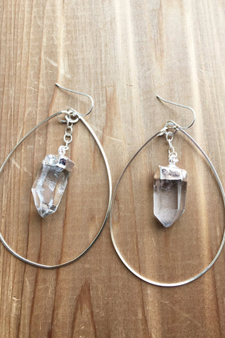 Highland Earrings in Silver!